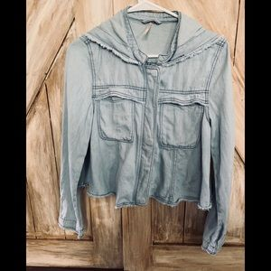 Free People SZ-XS Lt Wgt  Denim Jacket Grt Cond